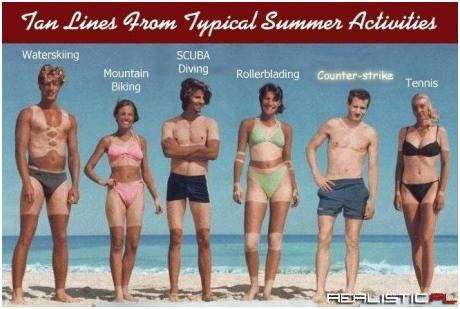 Sportowcy na plaży